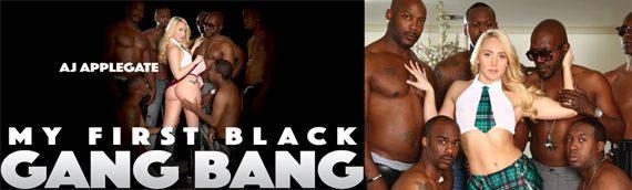 AJ's First Black Gangbang!