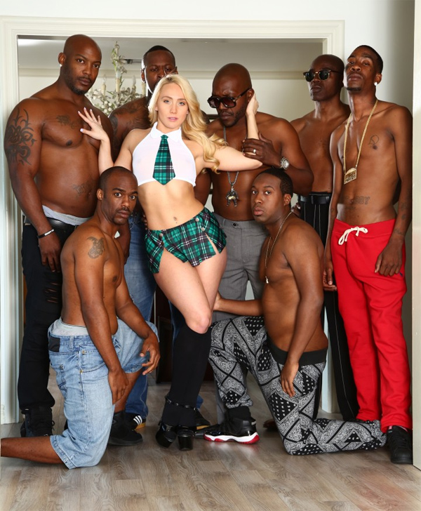 Aj applegate gets gangbanged and ass fucked by black dudes - 2 part 2